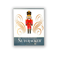 Closed Matchbook Packaging, Featuring the Pennsylvania Ballet's Nutcracker Enamel Pin