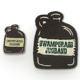 Swampgrass Jug Band Pin and embroidered patch