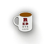Custom Red Eye Cafe Coffee Cup Enamel Pin
