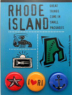 Rhode Island, The Ocean State Button Card
