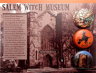 Custom Design Button Card for the Salem Witch Museum