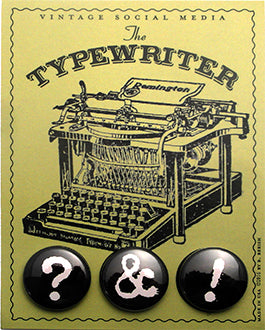 Typewriter Vintage Social Media Cards