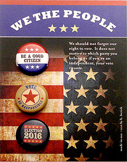 We The People Political Button Card