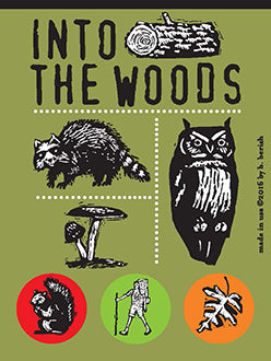 Into the Woods Button Cards with Postcard backs
