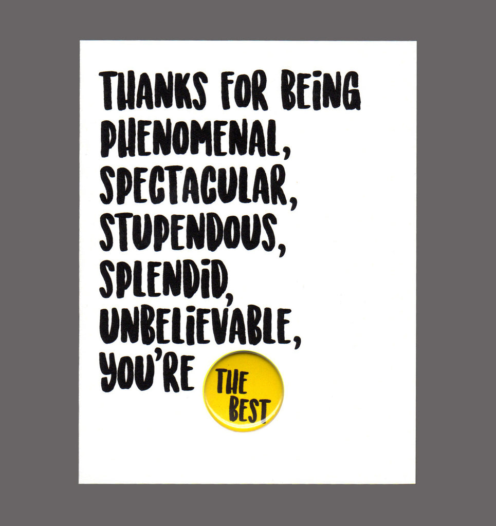 Thanks For Being Phenomenal, Spectacular, Stupendous - Special Friendship Card, Sold In a 5 Pack