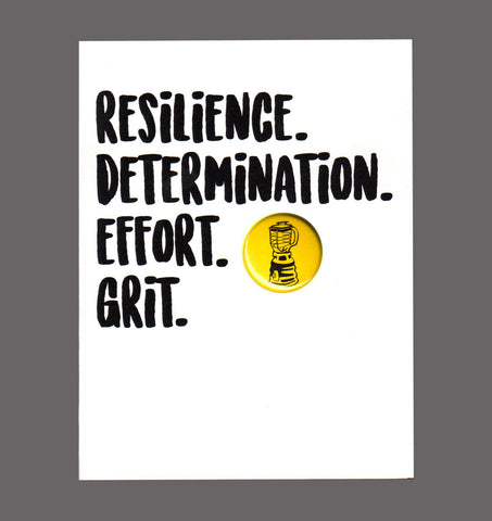 Resilience. Determination. Effort. Grit. - Encouragement, Good Work, Congratulations Card, Sold In a 5 Pack