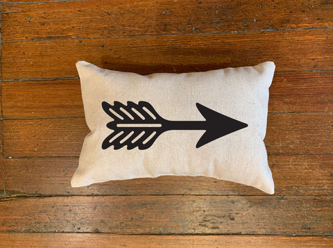 Single Shooting Arrow Pillow