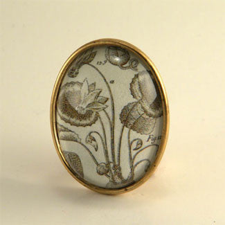 Loverly Weeds Vintage Botanical Engraving Brooch