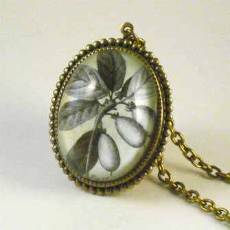 Olive You Classic Olive Botanical Flora Engraving Pendant Necklaces in Vintage or Contemporary Silver Settings