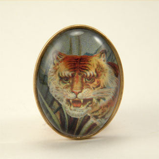 I of the Tiger - Full Color Tiger Image Brooch