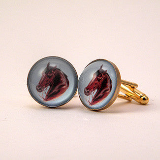 Hay Is For Horses - Thoroughbred Horse Cuff Links