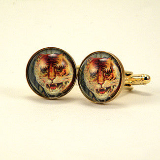 I of the Tiger - Full Color Tiger Image Cuff Links