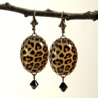 Leopard Print - Seeing Spots Big Cat African Earrings
