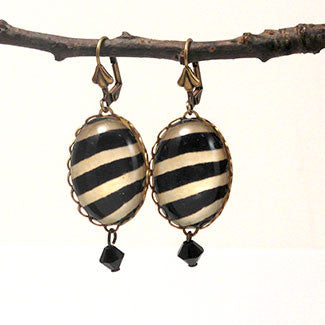 The White Stripes Zebra Earrings