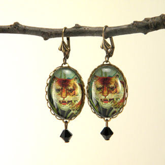 I of the Tiger - Full Color Tiger Image Earrings