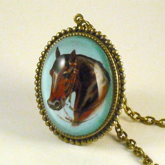 Hay Is For Horses - Thoroughbred Horse Pendant Necklace