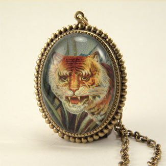 I of the Tiger - Full Color Tiger Image Deluxe Necklace