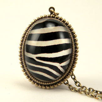 The White Stripes Zebra Deluxe Pendant Necklace