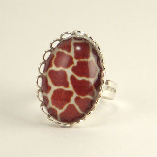 Over The Top Giraffe Print Petite Ring