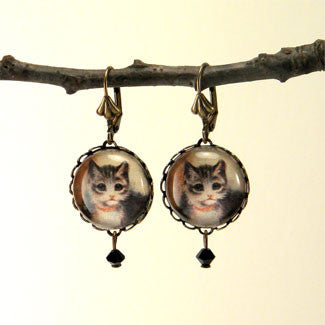 Little Kitties Ring and Earring Set - Cute Colorful Cat Earrings