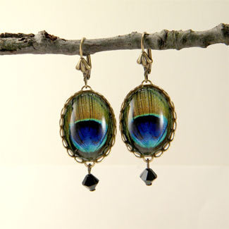 Proud As A Peacock Earrings