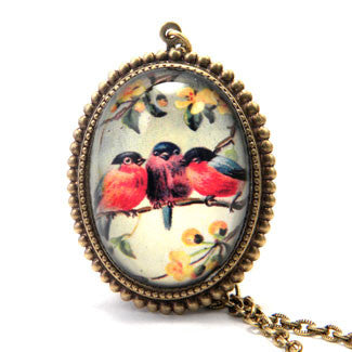 Perch-n-Pretty - Three Robins on an Branch Jewelry