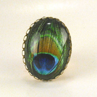 Proud As A Peacock Deluxe Cocktail Ring