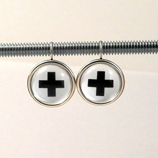 Geometric Earrings Swiss Cross