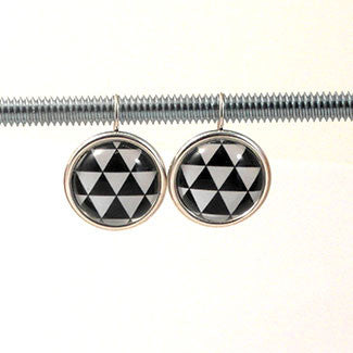 Geometric Earrings Triangle Pattern