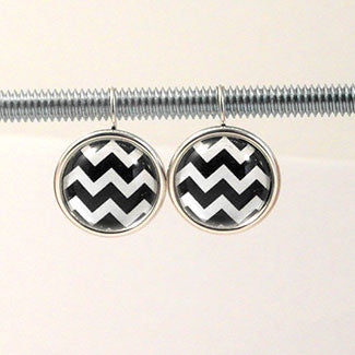 Geometric Earrings Zig-Zag Pattern