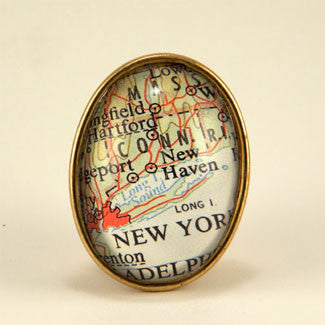 New York City Map Brooch