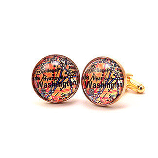 Washington DC Map - A Capitol Idea Cuff Links