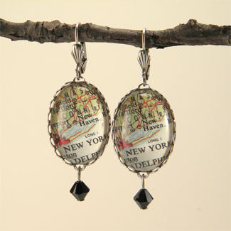 New York City Map Earrings