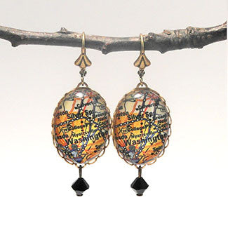 Washington DC Map - A Capitol Idea Earrings