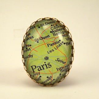 Paris Map Cocktail Ring