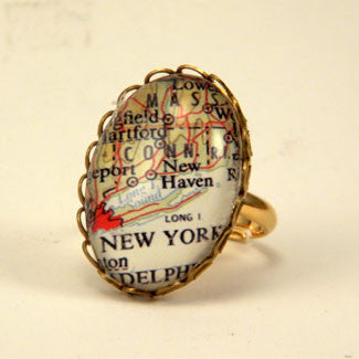 New York City Map Petite Ring