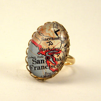Old San Francisco Map Petite Ring