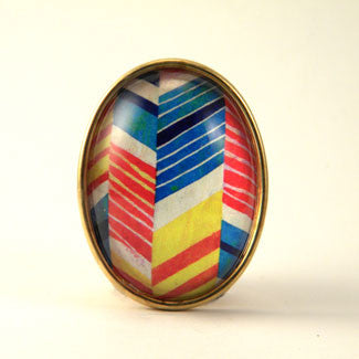 Piñata - Colorful Geometric Shapes Brooch