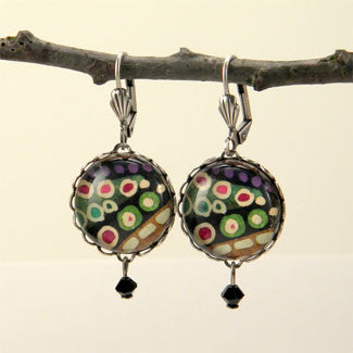 Jungle Juice - Deep Forest Colors Rain Forest Earrings
