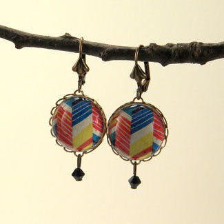 Piñata - Colorful Geometric Shapes Earrings
