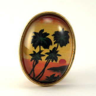 Tropical Sunset - Island Paradise Brooch