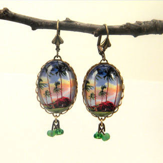 Little Grass Shack - Tropical Living Earrings