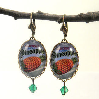 Luscious Pineapple - Tropical Fruit Earrings