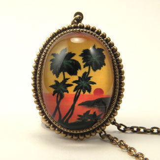 Tropical Sunset - Island Paradise Deluxe Pendant Necklace