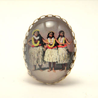 Hula Girls - The Hawaiian Island Dance Cocktail Ring