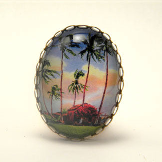 Little Grass Shack - Tropical Living Cocktail Ring