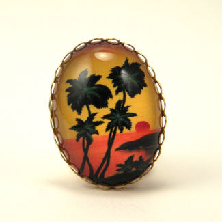 Tropical Sunset - Island Paradise Cocktail Ring