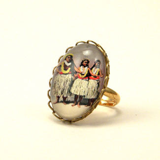 Hula Girls - The Hawaiian Island Dance Petite Ring