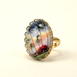 Little Grass Shack - Tropical Living Petite Ring