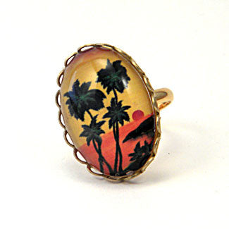 Tropical Sunset - Island Paradise Petite Ring